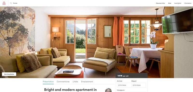 Photo d'un appartement sur Airbnb